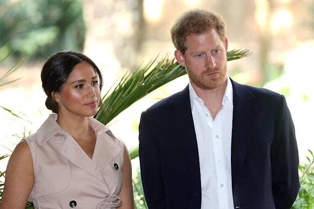 Meghan's remarks came in an interview while they were in South Africa. (Getty Images)