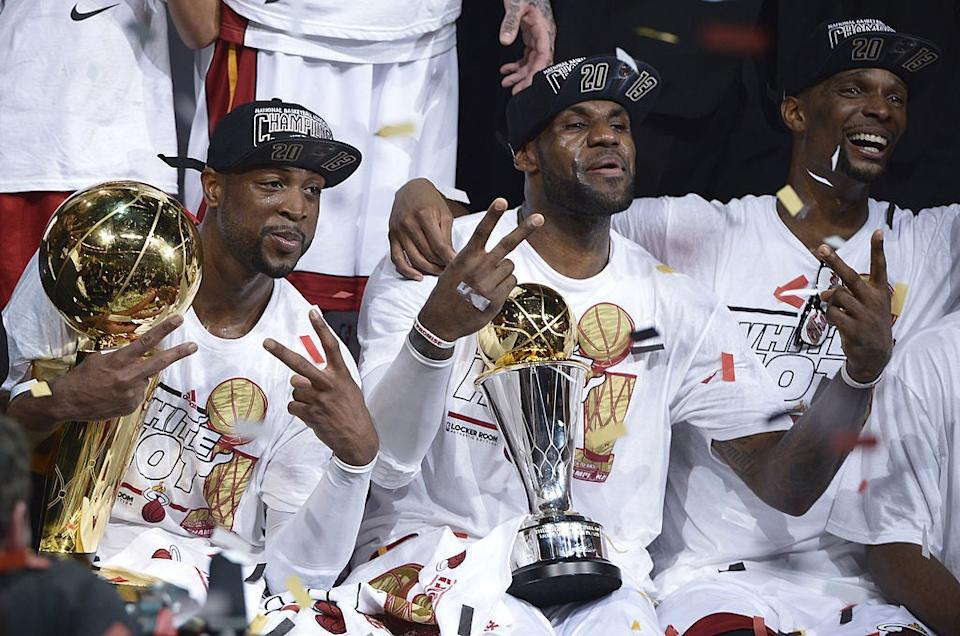 Wade, James and Bosh combined to create 'The Big Three' in MiamiAFP