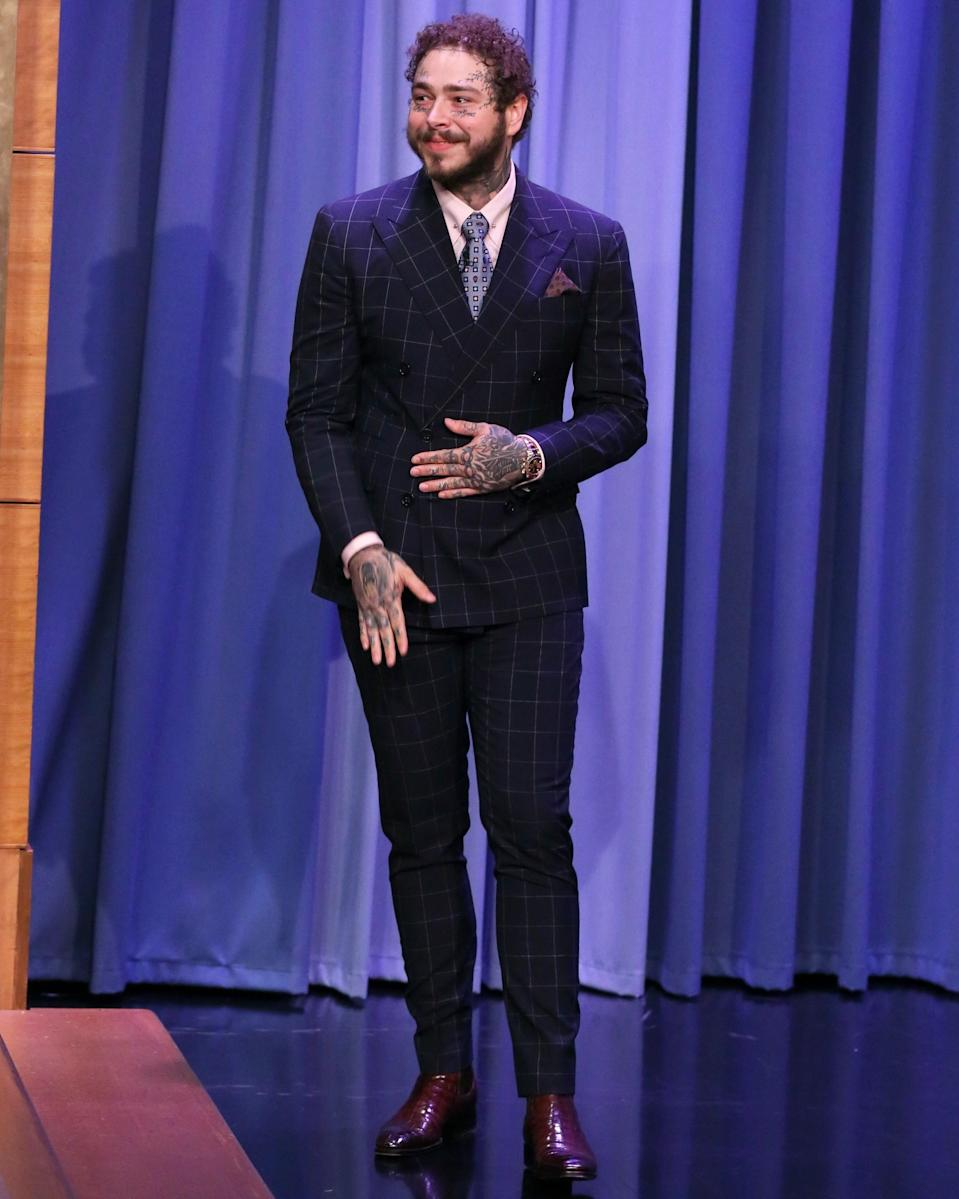 """<h1 class=""""title"""">August 7: Post Malone</h1> <div class=""""caption""""> That's Mr. Malone to you. </div> <cite class=""""credit"""">Getty Images</cite>"""