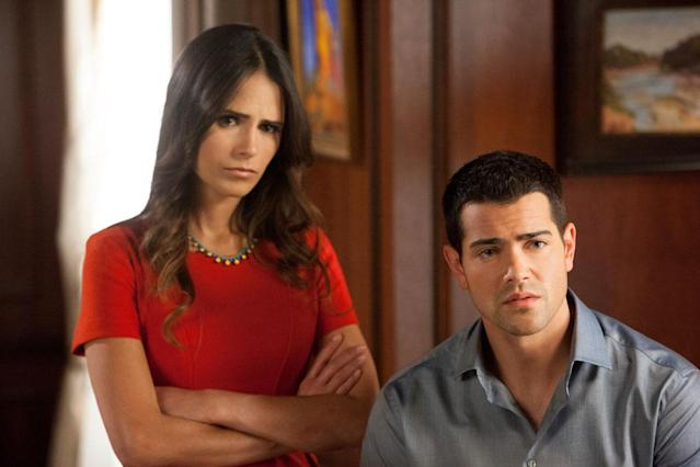 "Jordana Brewster and Jesse Metcalfe in the ""Dallas"" Season 2 episode, ""Trial and Error."""
