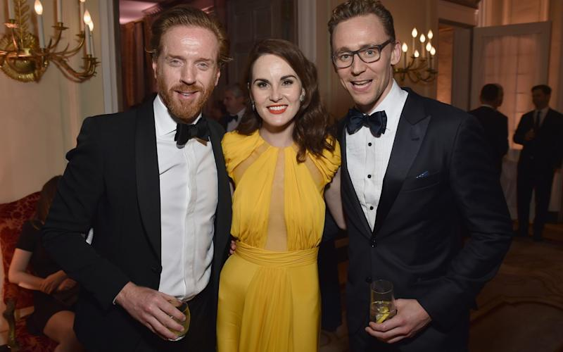 Damian Lewis, Michelle Dockery and Tom Hiddleston - Credit: Dimitrios Kambouris/VF16