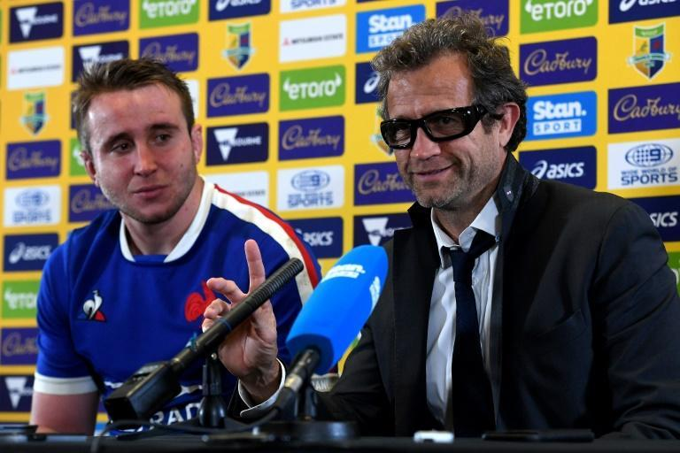 France's captain Anthony Jelonch and head coach Fabien Galthie