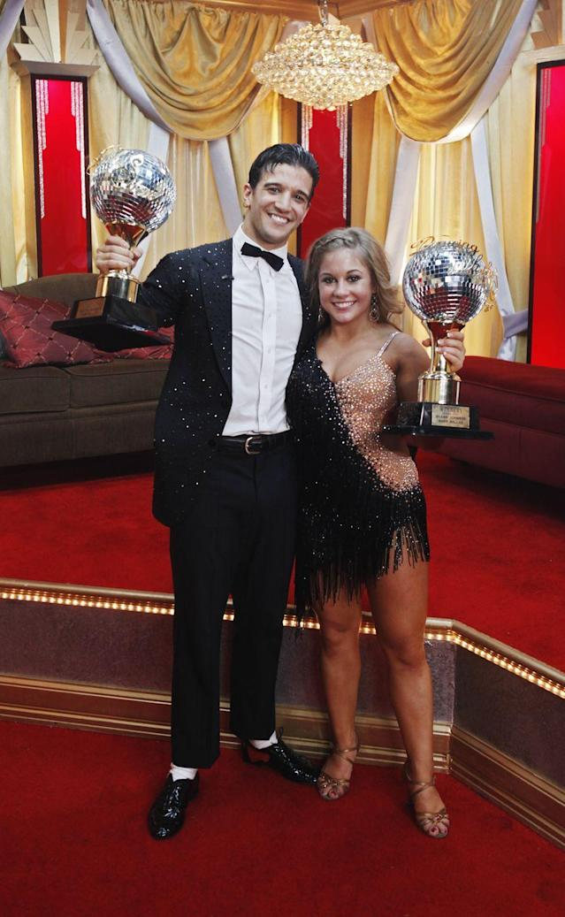 """<p>A lot of people thought Gilles Marini had season eight in the bag, but Olympic gymnast Shawn Johnson danced her heart out with Mark. He definitely <a href=""""https://youtu.be/-lemp_XOmtM"""" rel=""""nofollow noopener"""" target=""""_blank"""" data-ylk=""""slk:put her gymnastics to use"""" class=""""link rapid-noclick-resp"""">put her gymnastics to use</a>.</p>"""