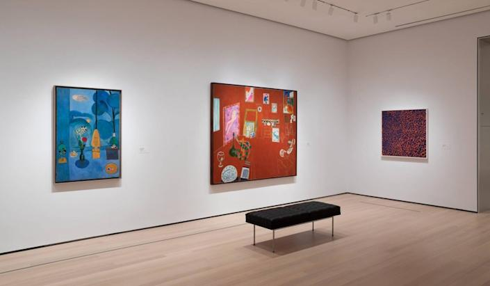 Installation view of Henri Matisse (Gallery 506), The Museum of Modern Art, New York.