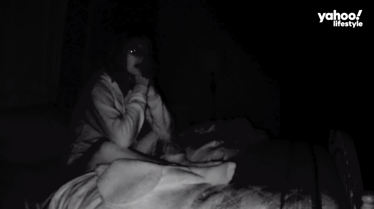 The author, as recorded on a night-vision Camcorder, speaking to Kevin.