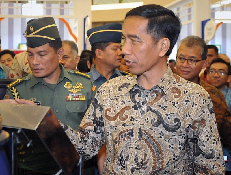 Indonesian President Joko Widodo, pictured in Jakarta on March 12, 2015, is kicking off a week-long tour of Japan and China aimed at attracting investment and boosting defence co-operation