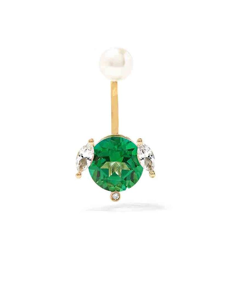 "<p>If you're having trouble locating that elusive pot 'o gold, these earrings are a great consolation prize.</p><p><i> Delfina Delettrez 18-Karat Gold Multi-Stone Earring, $1,755, <a href=""https://www.net-a-porter.com/us/en/product/652655/Delfina_Delettrez/18-karat-gold-multi-stone-earring"">net-a-porter.com</a></i></p>"