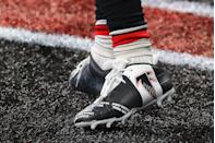 """<p>But only during warmup, and as long as the NFL and their <a href=""""https://www.sportscasting.com/the-head-scratching-reason-nfl-players-cant-customize-their-cleats/"""" rel=""""nofollow noopener"""" target=""""_blank"""" data-ylk=""""slk:respective teams approve"""" class=""""link rapid-noclick-resp"""">respective teams approve </a>of the intended design, and they're placed on an NFL standard football cleat.</p>"""