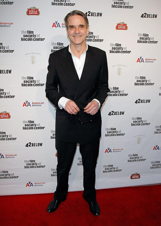 """<a href=""""http://movies.yahoo.com/movie/contributor/1800020968"""">Jeremy Irons</a> at the 36th Film Society Of Lincoln Center's Gala tribute honoring Tom Hanks - 04/27/2009"""