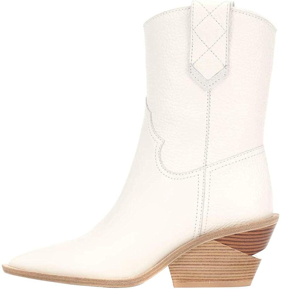 <p>These <span>Themost Ankle Boots</span> ($59) come in all sorts of colors. The white, though, is striking.</p>