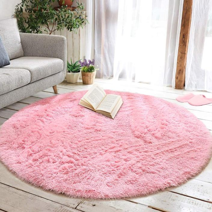 This Circular Area Rug On Amazon Is A Home Decor Essential