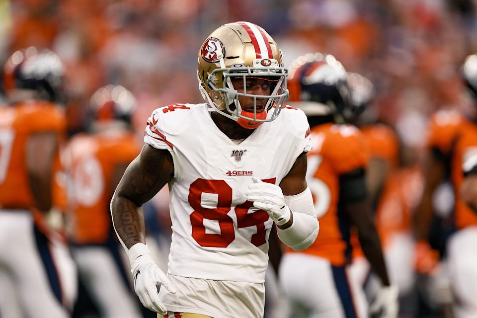 Kendrick Bourne and the 49ers are reportedly in the NFL's COVID crosshairs. (Isaiah J. Downing-USA TODAY Sports)