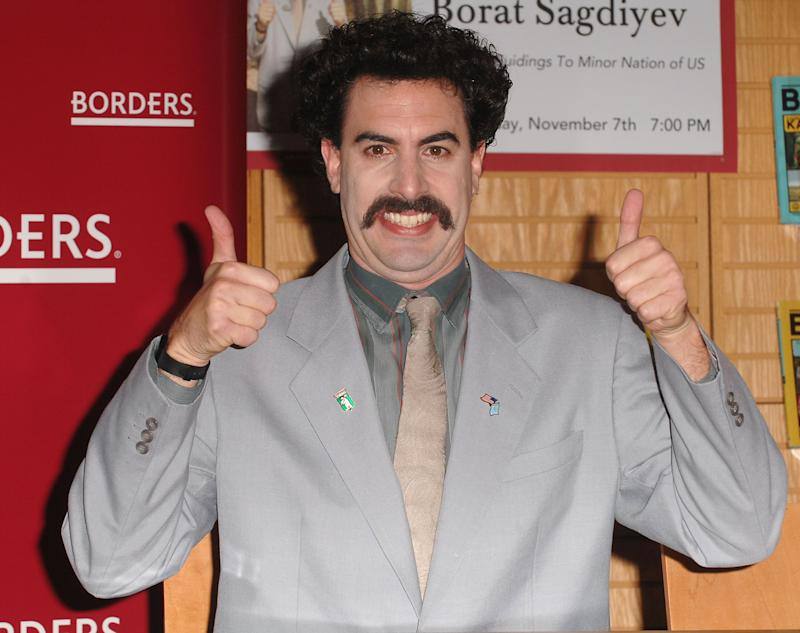 Sacha Baron Cohen Says 'Borat' Split Up Pamela Anderson And Kid Rock