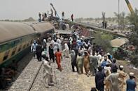 The Millat Express was heading from Karachi when it derailed, and its carriages ended up on the track carrying the Rawalpindi train
