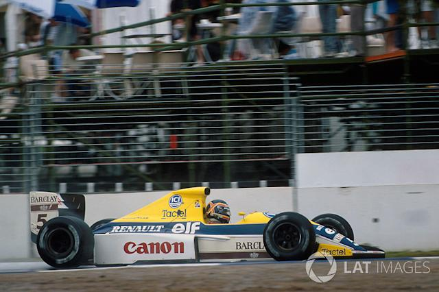 """Thierry Boutsen, Williams-Renault FW13, 1989 <span class=""""copyright"""">Sutton Motorsport Images</span>"""