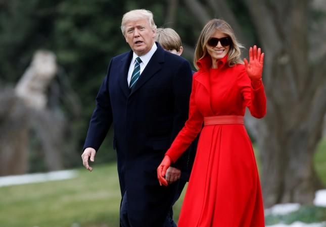 U.S. President Donald Trump and first lady Melania Trump