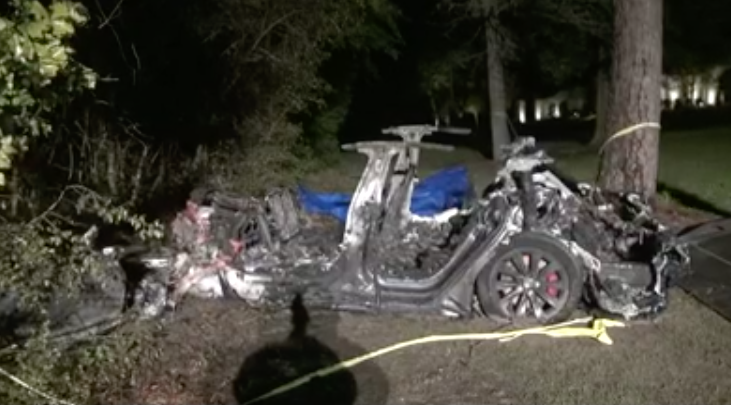 Two men were killed when a Tesla, believed to be on autopilot, crashed into a tree in Texas (KHOU 11)