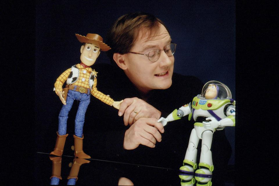 THE CREATERS AND DIRECTORS OF THE FILM 'TOY STORY' (Photo by Eric Robert/Sygma/Sygma via Getty Images)
