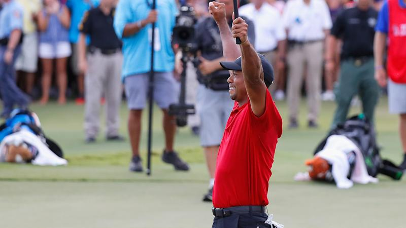 Tiger Woods wins TOUR Championship, but Justin Rose holds FedEx Cup