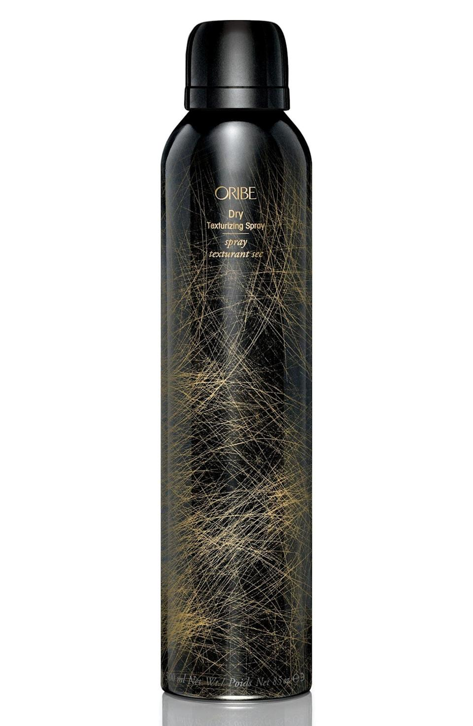 <p>The <span> Oribe Dry Texturizing Spray</span> ($23–$48) is the brand's cult-classic product; using it is like giving your hair a mini makeover. The clear formula can absorb a lot of oil sitting at your roots, which gives you a boost of volume.</p>