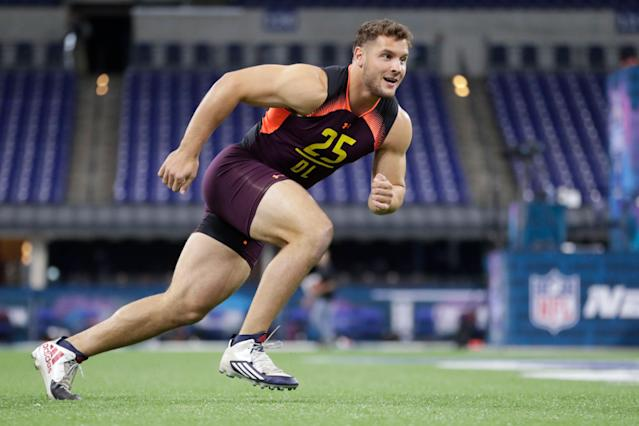 Likely high draft pick Nick Bosa has made the business decision to tone down his Twitter feed. (AP)