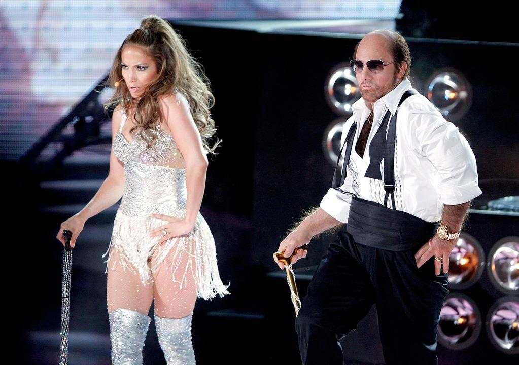 "Odd couple of the night? Jennifer Lopez and Tom Cruise, who performed an amusing dance routine to a mash-up of Ludacris' ""Get Back"" and Lopez's ""Get Right."" Turns out we're going to see a lot more of Cruise's alter ego Les Grossman. The 47-year-old will be bringing his ""Tropic Thunder"" character to the big screen for his very own film next year. Christopher Polk/<a href=""http://www.gettyimages.com/"" target=""new"">GettyImages.com</a> - June 6, 2010"
