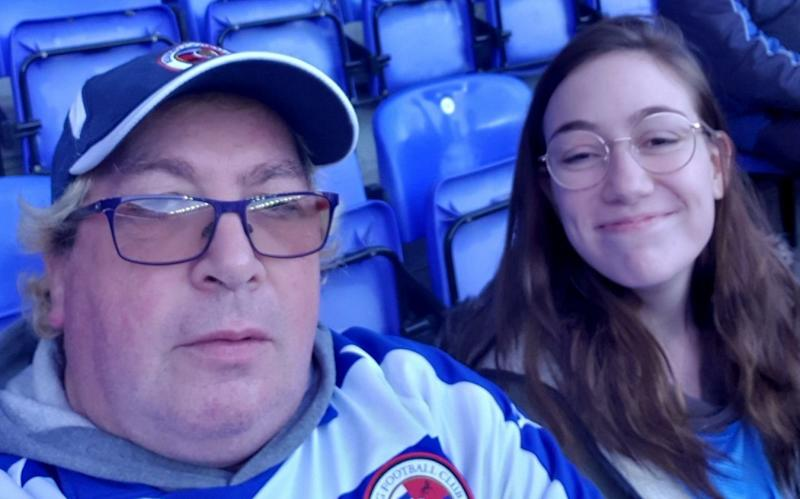 Kevin Keiley and his daughter, Leah, are both fans of Reading F.C. (Photo: Kevin Keiley)