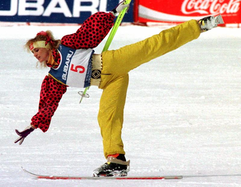 Oksana Kushenko of Russia performing in the ski ballet competition at the 1997 FIS Freestyle Ski World Championships in Nagano, Japan. (Reuters Photographer / Reuters)