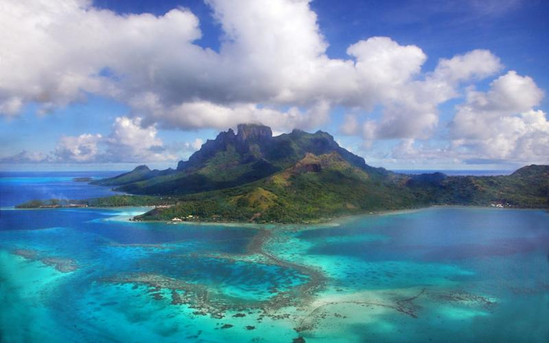 From 1966 to 1996, France carried out 193 nuclear tests over 30 years around the paradise islands of French Polynesia, including Bora Bora (pictured) and Tahiti - Moment RF