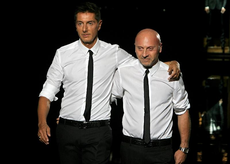 Italian fashion designers Domenico Dolce (L) and Stefano Gabbana in 2007 (AFP Photo/Filippo Monteforte)