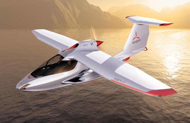 The ICON A5 sports aircraft comes at a cost of $389,000. (AP)