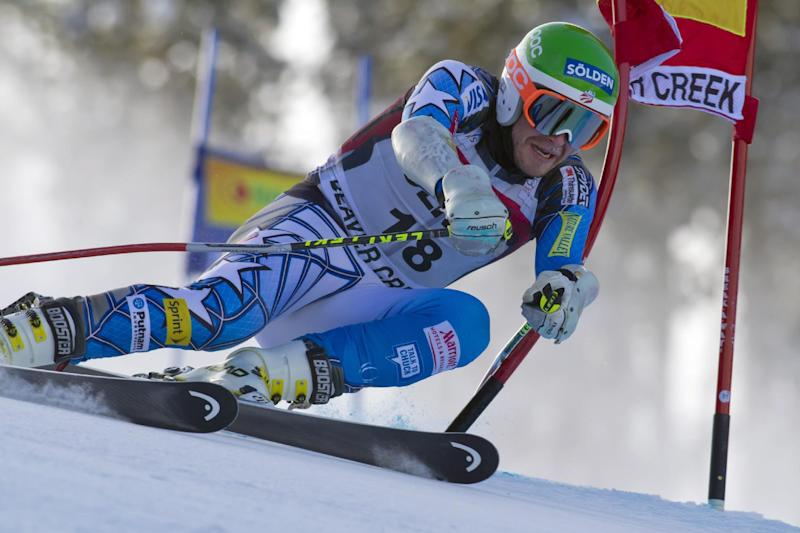 FILE - In this Dec. 6, 2011 file photo, Bode Miller competes in the men's FIS World Cup ski competition, in Beaver Creek, Colo.  Miller will undergo another surgery on his balky left knee and miss the remainder of the World Cup season. (AP Photo/Nathan Bilow, File)