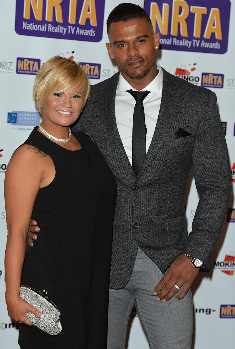 Kerry Katona and George Kay attend the National Reality TV Awards at Porchester Hall on September 30, 2015 in London, England.