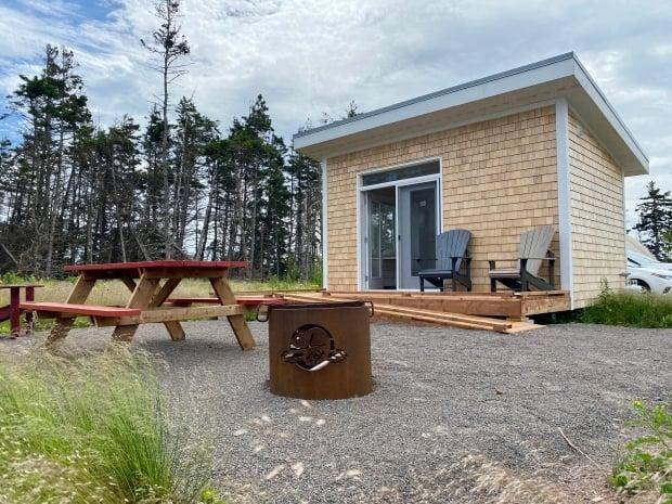 The new bunkie at Cavendish Campground in P.E.I. National Park in Cavendish.  (Jane Robertson/CBC - image credit)