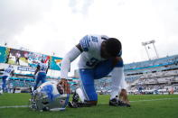 Detroit Lions cornerback Jeff Okudah (30) during a NFL football game against the Jacksonville Jaguars on Sunday, Oct. 18, 2020 in Jacksonville, FL. The Lions defeated the Jaguars 34-16 (Detroit Lions via AP).
