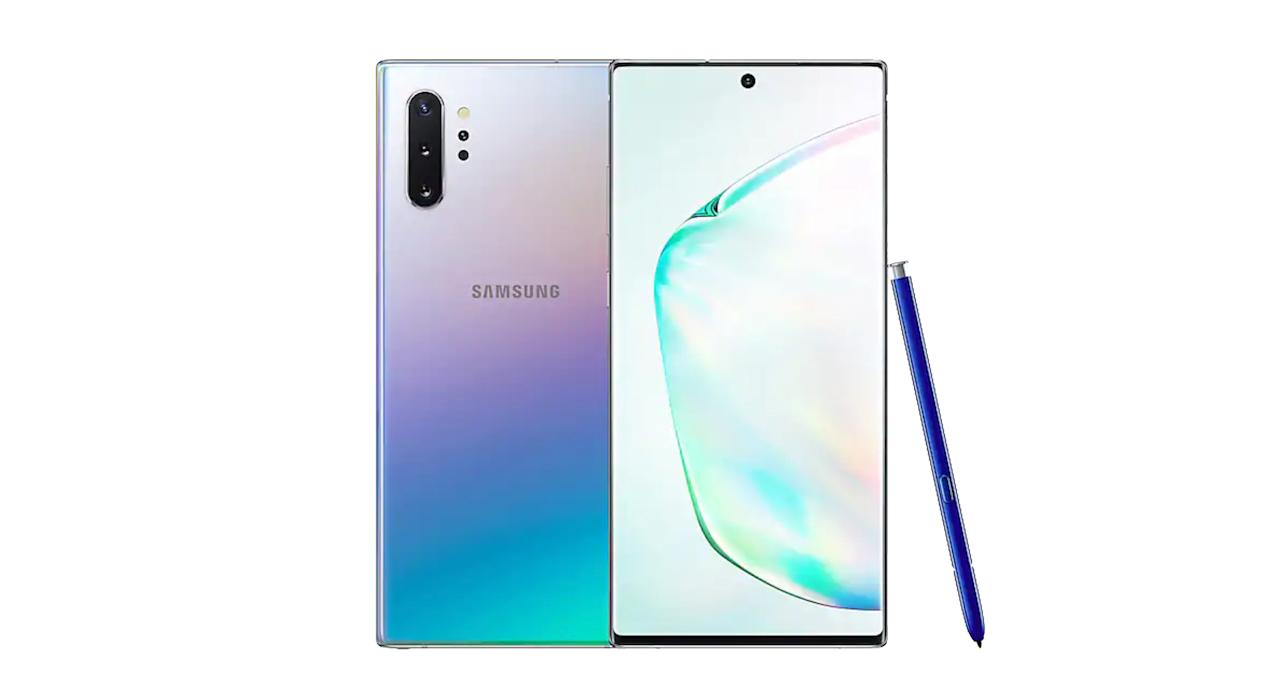 "Samsung's latest smartphone offering has really stepped up its game. It hosts a few more features than its predecessor, such as the impressive 6.8-inch infinity AMOLD glass screen and 5G, for the first time. There's also four rear cameras, larger battery and more RAM, as well as the Qualcomm Snapdragon 855 chipset inside. <a href=""https://fave.co/2zW89Og ""><strong>Shop now</strong></a><strong>.</strong>"