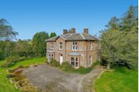 """<p>In the heart of the Scottish countryside, this historical grand period home has four bedrooms, three reception rooms and three bathrooms. It might be in need of a little TLC, but it's incredibly spacious both inside and out. </p><p><a href=""""https://www.onthemarket.com/details/9565819/"""" rel=""""nofollow noopener"""" target=""""_blank"""" data-ylk=""""slk:This property is currently on the market for £445,000 with Strutt & Parker at OnTheMarket"""" class=""""link rapid-noclick-resp"""">This property is currently on the market for £445,000 with Strutt & Parker at OnTheMarket</a></p>"""