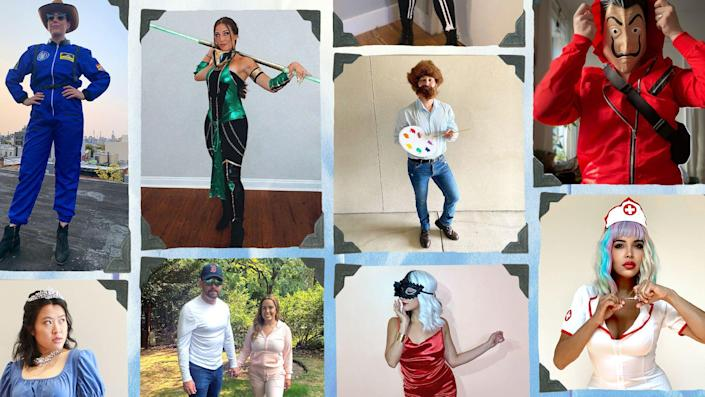 """<p>It's no secret that we love a good Halloween costume here at BestProducts.com. Apparently, we're not alone: <a href=""""https://nrf.com/insights/holiday-and-seasonal-trends/halloween"""" rel=""""nofollow noopener"""" target=""""_blank"""" data-ylk=""""slk:61% of Americans said they'd dress up in costumes last year"""" class=""""link rapid-noclick-resp"""">61% of Americans said they'd dress up in costumes last year</a>, spending more than $8 billion on their festive outfits and decorations — and that's despite COVID restrictions. This year, as things continue to open up and people continue to become vaccinated, we have a feeling those numbers are only going to increase this year — regardless of whether or not we're able to mark the occasion in person at a bar, out on the town, or <a href=""""https://www.goodhousekeeping.com/holidays/halloween-ideas/a29356931/what-time-does-trick-or-treating-start/"""" rel=""""nofollow noopener"""" target=""""_blank"""" data-ylk=""""slk:trick-or-treating with the fam"""" class=""""link rapid-noclick-resp"""">trick-or-treating with the fam</a>. Just remember, no matter how you celebrate, do it safely! </p><p>Whether you prefer to <a href=""""https://www.bestproducts.com/lifestyle/news/g1733/group-halloween-costumes/"""" rel=""""nofollow noopener"""" target=""""_blank"""" data-ylk=""""slk:dress up in a theme with your crew"""" class=""""link rapid-noclick-resp"""">dress up in a theme with your crew</a>, use some <a href=""""https://www.bestproducts.com/lifestyle/news/g1715/easy-diy-last-minute-costumes-for-halloween/"""" rel=""""nofollow noopener"""" target=""""_blank"""" data-ylk=""""slk:DIY inspiration"""" class=""""link rapid-noclick-resp"""">DIY inspiration</a> to craft something unexpected and original, want to get <a href=""""https://www.bestproducts.com/lifestyle/g22530616/family-halloween-costume-ideas/"""" rel=""""nofollow noopener"""" target=""""_blank"""" data-ylk=""""slk:the whole family involved"""" class=""""link rapid-noclick-resp"""">the whole family involved</a>, or prefer to <a href=""""https://www.bestproducts.com/lifestyle/g28816567/mens-halloween-costume-ideas/"""" """