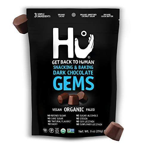 """<p><strong>Hu</strong></p><p>amazon.com</p><p><strong>$14.99</strong></p><p><a href=""""https://www.amazon.com/dp/B07X7GYQ14?tag=syn-yahoo-20&ascsubtag=%5Bartid%7C2141.g.36256545%5Bsrc%7Cyahoo-us"""" rel=""""nofollow noopener"""" target=""""_blank"""" data-ylk=""""slk:Shop Now"""" class=""""link rapid-noclick-resp"""">Shop Now</a></p><p>Yes, you can have chocolate on the keto diet! The key is making sure it's <a href=""""https://www.prevention.com/food-nutrition/healthy-eating/g25728973/healthy-chocolate-bars-snacks/"""" rel=""""nofollow noopener"""" target=""""_blank"""" data-ylk=""""slk:dark chocolate"""" class=""""link rapid-noclick-resp"""">dark chocolate</a>—at least 70% cacao—and limiting your intake to a few small pieces. I'm obsessed with this chocolate from Hu Kitchen, which is <strong>made from just three simple ingredients</strong> (cacao, unrefined coconut sugar, and cocoa butter) and has only 5g net carbs per tablespoon.</p>"""