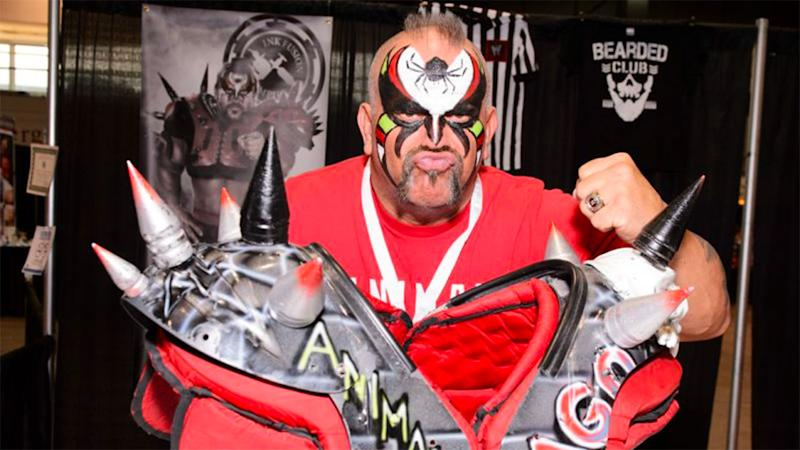 Pictured here, Road Warrior Animal, who formed one part of the Legion of Doom tag team.