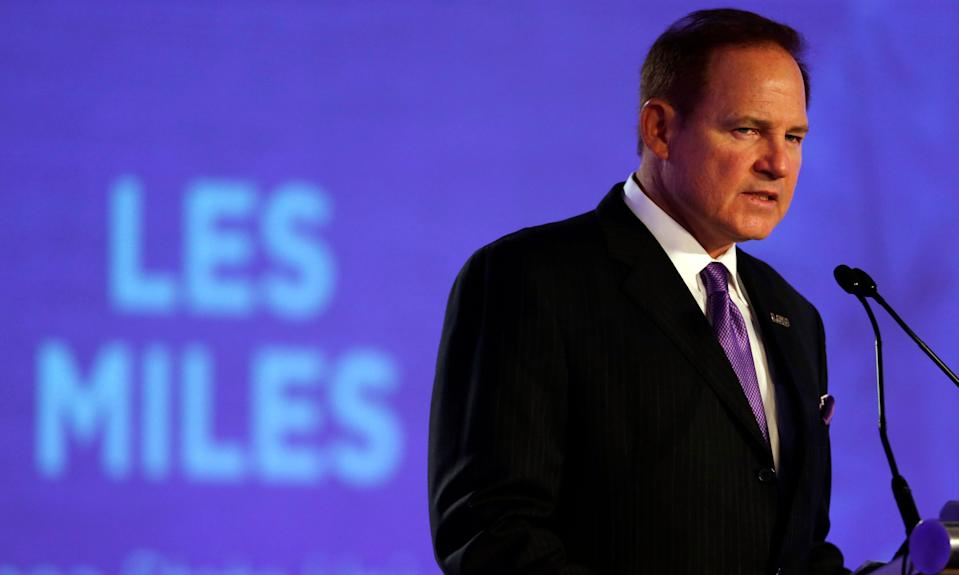 Former LSU head football coach Les Miles was the subject of a 2013 internal investigation into allegations of inappropriate contact with female students.