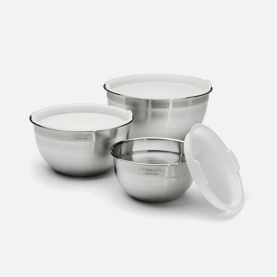 """<p><strong>Cuisinart</strong></p><p>amazon.com</p><p><strong>$39.99</strong></p><p><a href=""""https://www.amazon.com/dp/B004YZEO9K?tag=syn-yahoo-20&ascsubtag=%5Bartid%7C10055.g.37348516%5Bsrc%7Cyahoo-us"""" rel=""""nofollow noopener"""" target=""""_blank"""" data-ylk=""""slk:Shop Now"""" class=""""link rapid-noclick-resp"""">Shop Now</a></p><p>This mixing bowl set will be practical when you're cooking (all while looking chic) when you're hosting guests for dinner. *Chef's kiss.* </p>"""