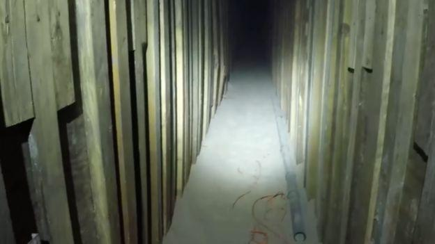 The tunnel stretched for almost 180 metres. Source: Homeland Security Investigations/Yuma Sector BP