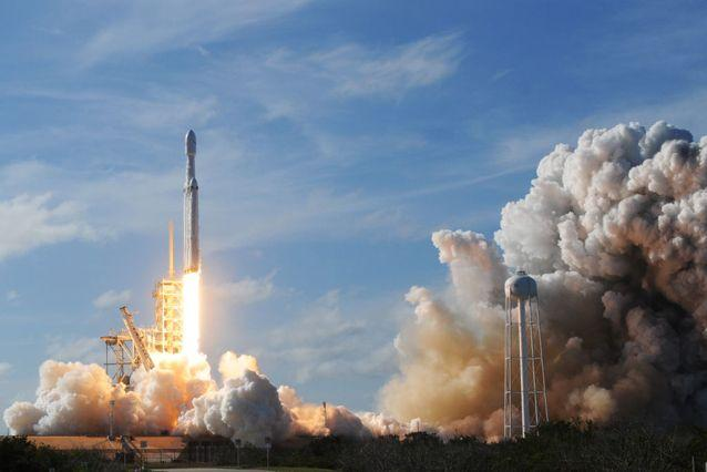 he SpaceX Falcon Heavy launches from Pad 39A at the Kennedy Space Center in Florida. Source: Getty