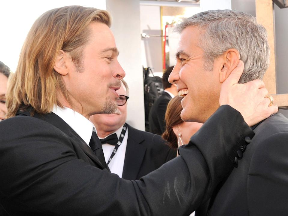 Brad Pitt and George Clooney in 2012.