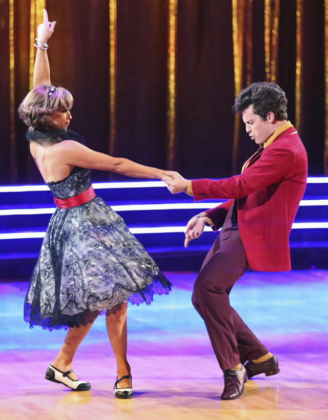 """Dorothy Hamill and Tristan MacManus perform on """"Dancing With the Stars."""""""