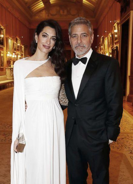 PHOTO: Amal Clooney and George Clooney attend a dinner to celebrate The Prince's Trust, hosted by Prince Charles, Prince of Wales at Buckingham Palace, March 12, 2019, in London. (Chris Jackson/Getty Images)