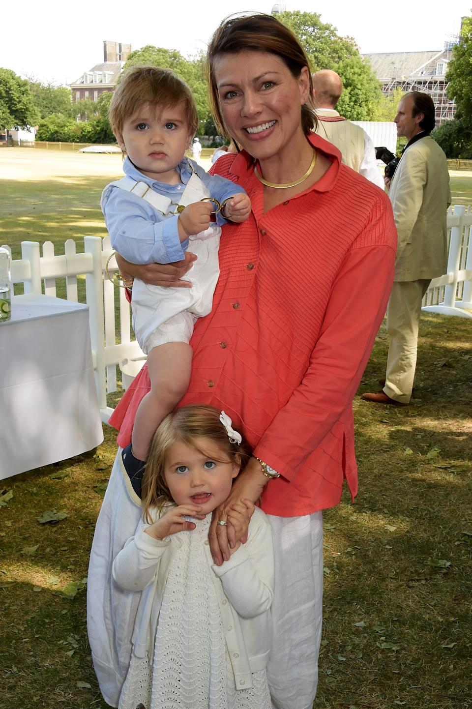 Kate Silverton, seen here with her son Wilbur and daughter Clemency, says she's worried for the mental health of children post pandemic (Photo by David M. Benett/Getty Images for Dockers)