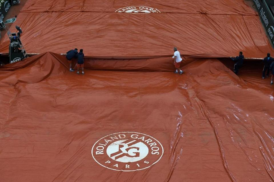 The complete washout on May 30, 2016 at the French Open is first the tournament has sufered since 2000 (AFP Photo/Miguel Medina)
