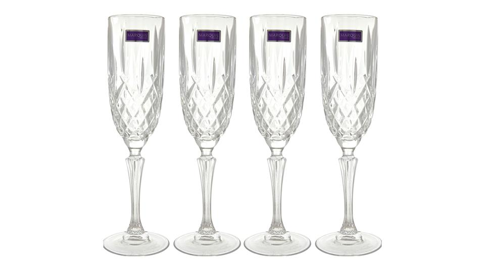 MARQUIS Four Pack Glass Flutes